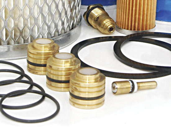 Spare parts for high pressure compressors