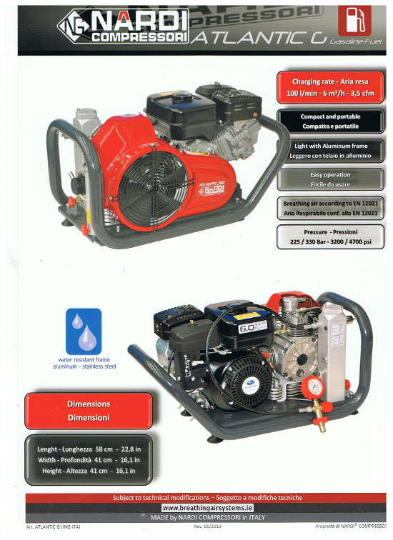 Nardi Atlantic G Breathing Air Compressor
