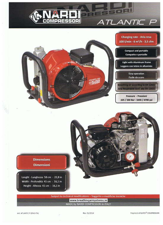 Nardi Atlantic P Air Compressor