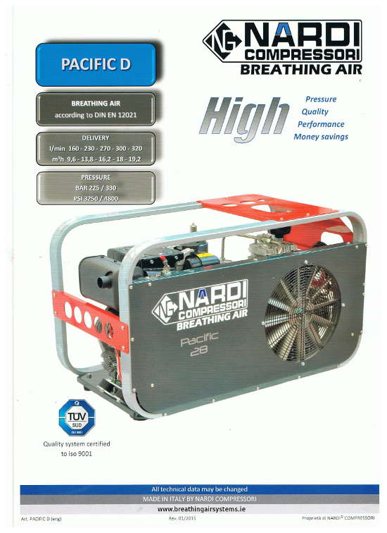 Nardi Pacific D High Pressure Breathing Air Compressor