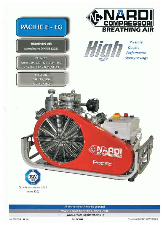 Nardi Pacific E - EG High Performance Breathing Air Compressor