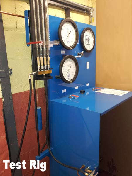 Testing of pressure vessels - hydrostatic test manifold